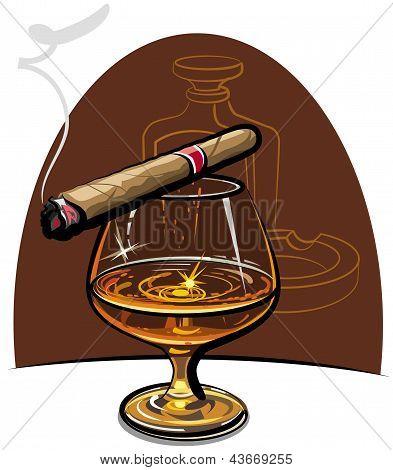 Cognac y puros
