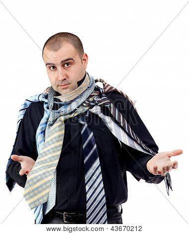 Man Choosing The Perfect Necktie