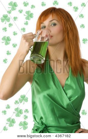 Cute Girl Saint Patrick