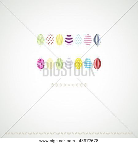 Multicolored decoration trees background.