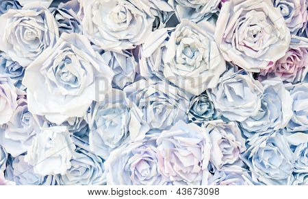 Paper Rose Background