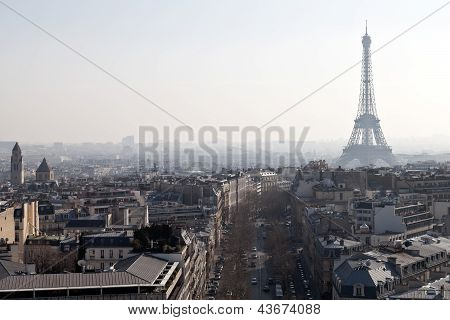 Above View Of Avenues D Iena In Paris