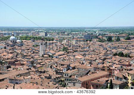Panoramic View Of Brescia, Italy