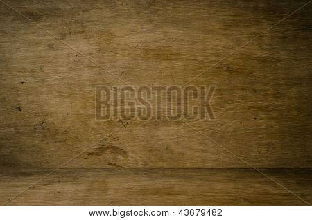Grungy Dark Wood Interior