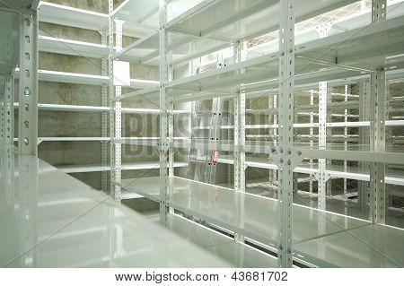 Empty Warehouse, Storage  Racks