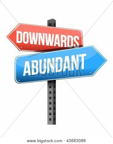 Downward And Abundant Road Sign
