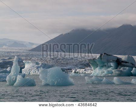 Ice Burgs On The Se