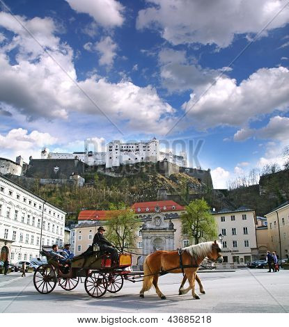 Horse-drawn In Salzburg