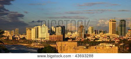 Tel Aviv, Israel. Twilight.