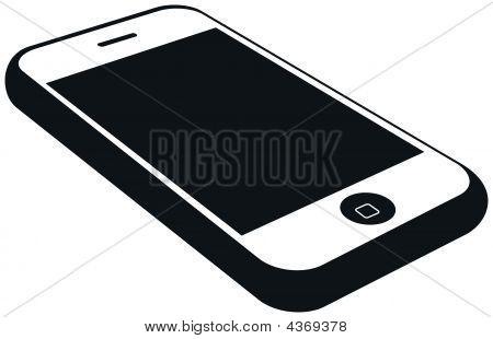Modern Mobile Phone With Big Display