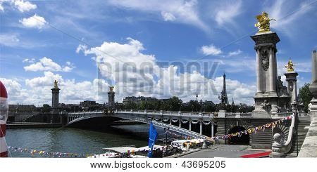Pont Alexandre III in Paris France