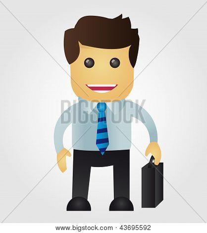 Dibujos animados de hombre de negocios