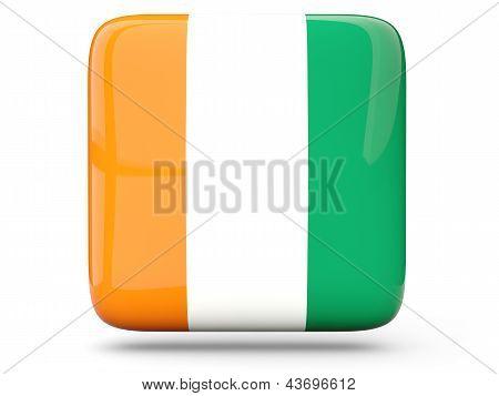 Square Icon Of Cote D Ivoire