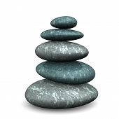 picture of budha  - Feng shui stones on the white background - JPG