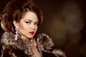 stock photo of mink  - Fashion portrait - JPG