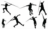 picture of siluet  - Javelin throw vectors from my sports vectors collection - JPG