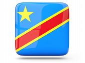 Square Icon Of Democratic Republic Of The Congo