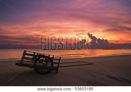 Cart On The Beach