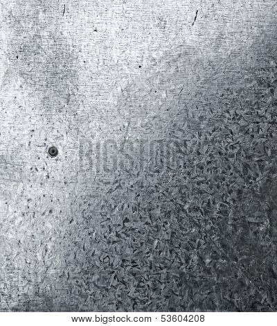 Galvanized Iron Closeup Background Texture