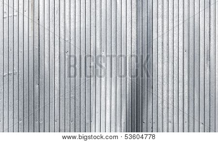 Corrugated Galvanized Metal Wall Surface Texture