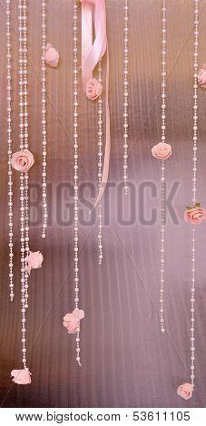Weding decoration on celebration place
