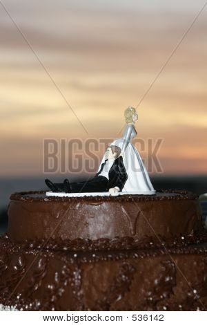 Wedding Cake At Sunset