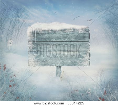 Winter Design - Christmas Valley With Sign