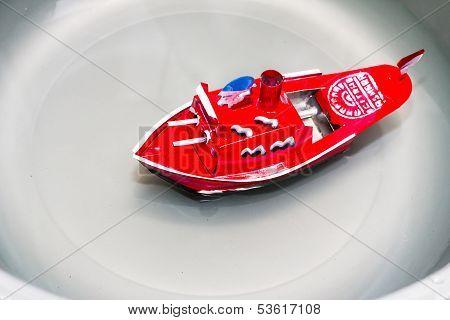 Red Toy Battleships