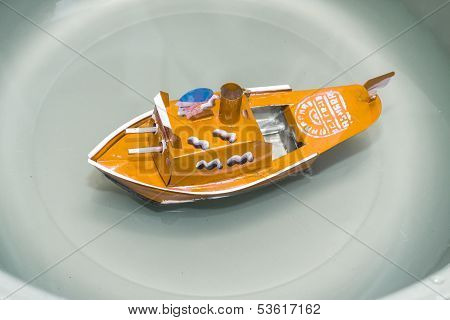 Yellow Toy Battleships