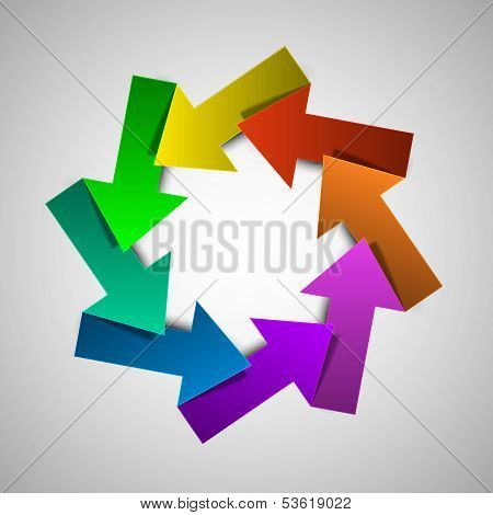 Vector colorful life cycle diagram