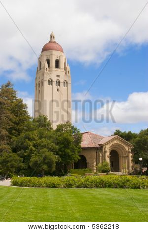 Stanford University Tower And Lawn