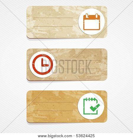 vector schedule cards