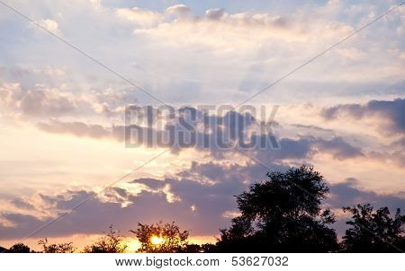 cloud and sunset