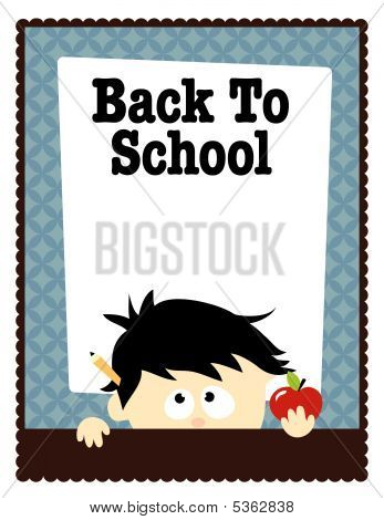 School Flyer Template Vector