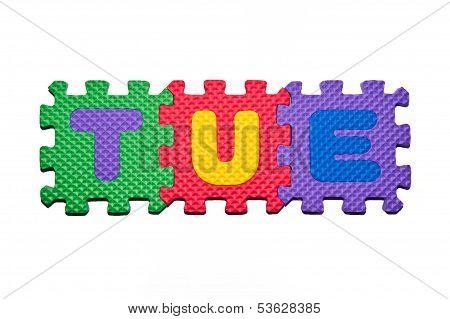 Alphabet on white backgrounds
