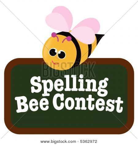 Isolated Spelling Bee with Sign Vector