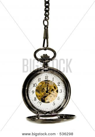 Clock Over White