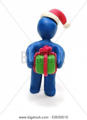 3D Santa Giving Gift