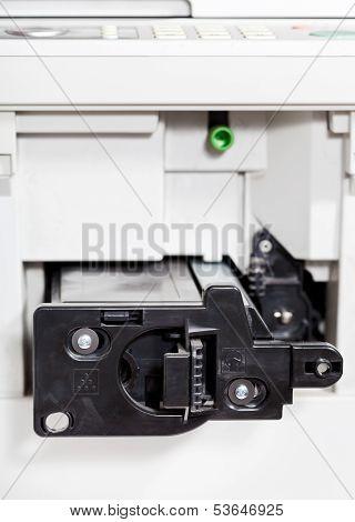 Insert Of Toner Cartridge In Office Copier