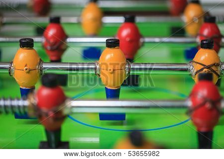 Colorful Wood Players Of A Table Football Toy