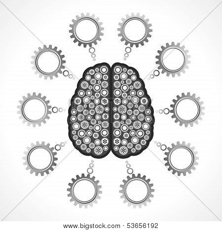 Thinking of mechanics concept with cog wheel stock vector