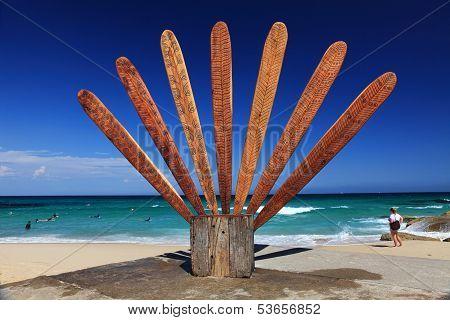 Sculpture By The Sea Exhibit At Tamarama Beach Australia