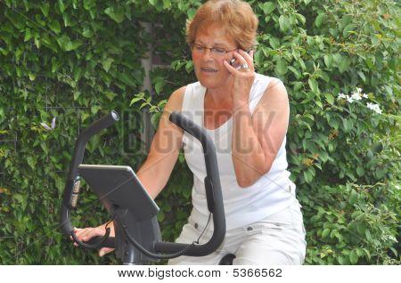 Senior Woman Talking To Family