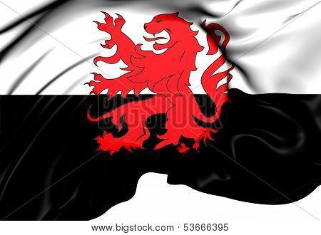 Flag Of Poitou-charentes, France.