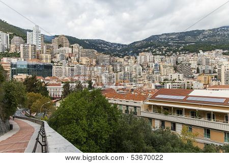 The Principality of Monaco. View of the residential area