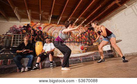 Female Capoeira Martial Artists