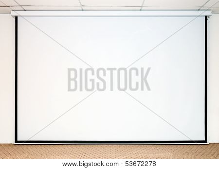 Large White Screen