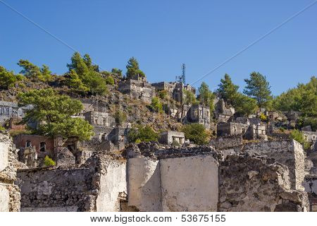 Ghost Town (kayakoy) In Turkey