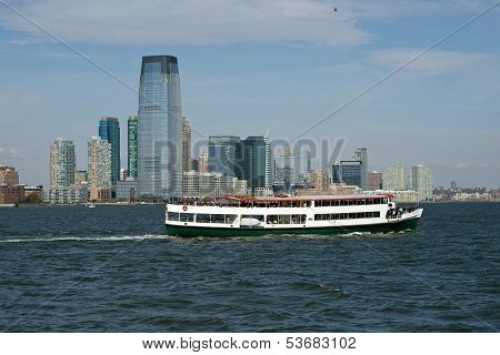 Jersey City With Party Boat.