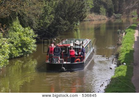 People On Canal Boat